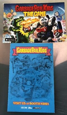 SDCC 2018 Garbage Pail Kids Gpk Promotional Cards