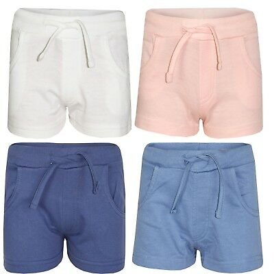 Girls Kids Children Casual Summer Hot Pants Shorts Gym Jersey Tie 7 To 13 years