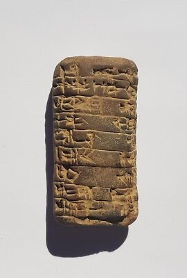 Interesting Old Cuneiform Clay Tablet - Legible Inscriptions - appr. 60 by 25 mm