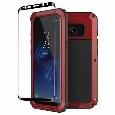 Tank Wolf Case Galaxy S9 S10 Plus Aluminium Metal 360 Hybrid  3D Glass Screen