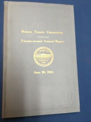 1916 Boston Transit Commission 22nd Annual Report; Dorchester Tunnel, Maps Plans