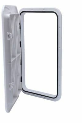 """NEW Amarine-made Boat ABS White 24/"""" x 9-5//8/"""" ACCESS HATCH /& LID 243X607mm US"""