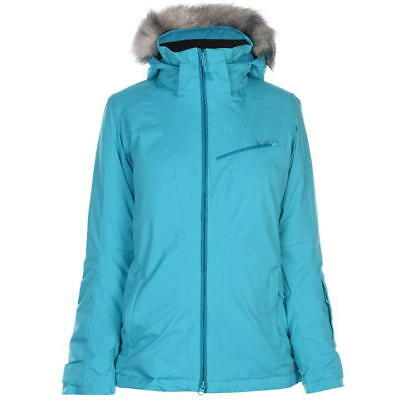 Salomon Rise Ski Jacket Ladies Coat Top Water Repellent Zip Zipped UK 16  (XL) 141336b01