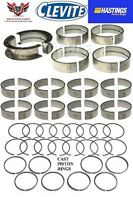 Clevite Ford 351C Cleveland V8 Rod Main Bearings And Hasting Piston Rings 70-74