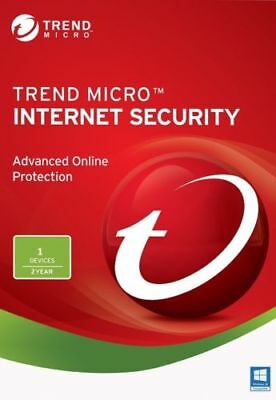 Trend Micro Internet Security AntiVirus 2018 Latest  2 Years  1 Device