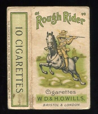 "Lot 44: 1930's W.D. & H.O. Wills ""Rough Rider"" Cigarette Pack Sleeve"