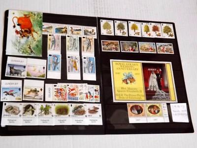 Jersey-1997-Complete Years Commem Sets+2 Min Shts-All Unmounted Mint-Mnh