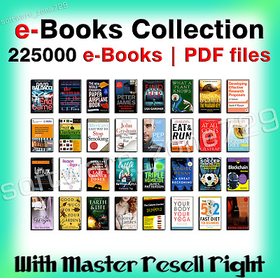 225000 Ebooks Package Collection | Pdf Format | With Master Resell Rights ♕ 📩
