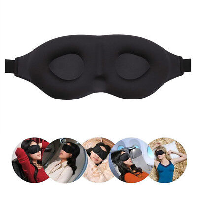Travel Sleep Eye Mask soft 3DMemory Foam Padded Shade Cover Sleeping BlindfoldPL