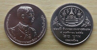 THAILAND 20 BAHT 120th AUDITING OF THAILAND 1995 COIN UNC