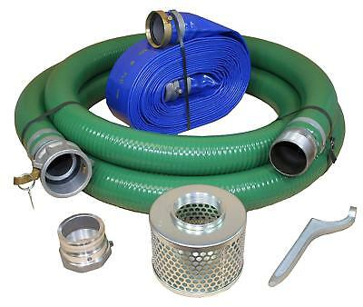 "Blastline 4"" Dia Water Pump Hose Kit, Includes 4-Inch Suction and Discharge Hose"