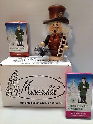 Miniwichtel Christian Ulbricht German Wood Smoker Incense Burner Chimney Sweep
