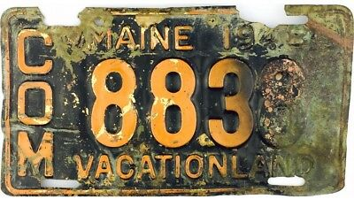 1948 Maine COMMERCIAL License Plate #8838 BRASS PLATE