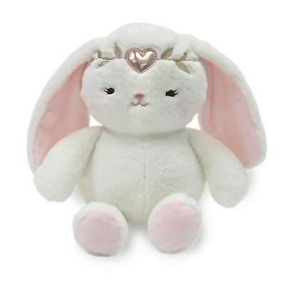 "Lambs & Ivy Confetti Plush Bunny 10"" Pixie  -  Pink, Gold, White, Love, Hearts,"