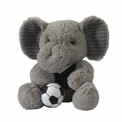 "Lambs & Ivy Future All Star Plush Elephant 10"" Blazer  -  Blue, Gray, Animals,"