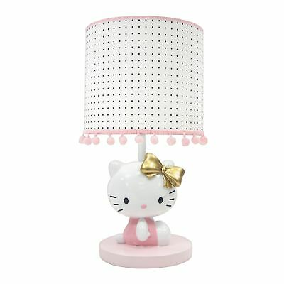 Lambs & Ivy Hello Kitty Nursery Lamp with Shade & Bulb  -  Pink, Gold, White,