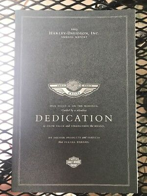 Harley Davidson 2003 Annual Report - Dedication Volume #3