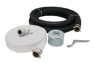 "1-1/2"" Rubber Water Suction & Discharge Hose Pump Kit, 1-1/2"" Male X Female NPSM"