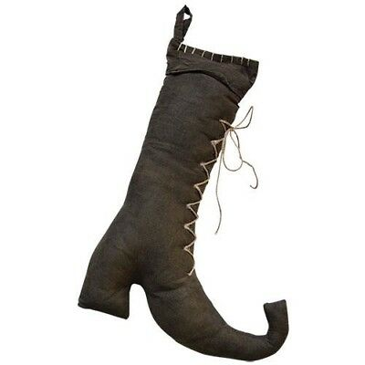 Country WITCH BOOT Rustic Fall Autumn Primitive Thanksgiving Halloween Decor New