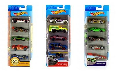 Hot Wheels 5 Cars Diecast Vehicle Pack Limited Editions Mattel New Genuine 3+