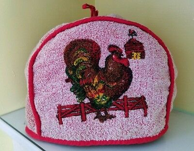 Vintage Toaster Small Appliance Cover terry Cannon rooster chicken 1950s 1960s