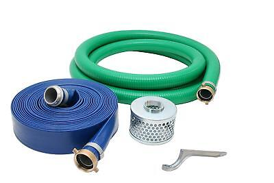 "2"" Inch PVC Suction and Discharge Pump Hose Kit, 2"" Male X Female NPSM"