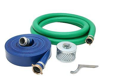 "4"" Inch PVC Suction and Discharge Pump Hose Kit, 4"" Male X Female NPSM"