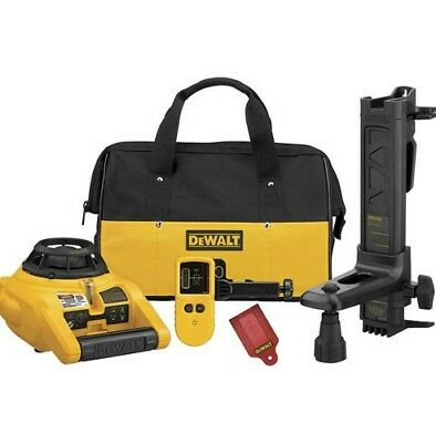 DEWALT Self-Leveling Interior and Exterior Rotary Laser Level Kit (DW074KD)~NEW