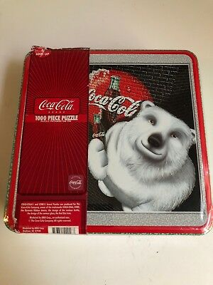 Coca cola polar bear puzzle in tin box Brand New 1000 piece coke  Factory Seal