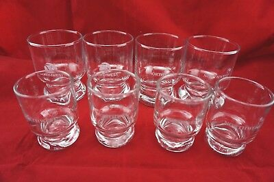 Northwest Airlines Glasses Lot of 8 - 2 Old Logo Air Plane Drink Cocktail Fly