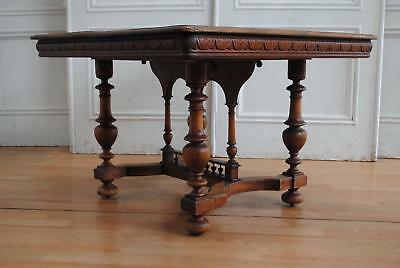 REDUCED ! French Antique Henry II French Renaissance Extending Dining Table