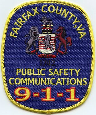 FAIRFAX COUNTY VIRGINIA VA 9-1-1 Dispatcher COMMUNICATIONS FIRE POLICE PATCH