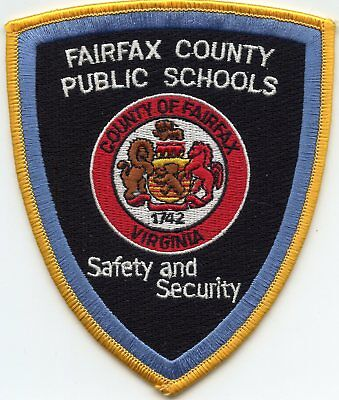 FAIRFAX COUNTY VIRGINIA VA PUBLIC SCHOOLS SAFETY SECURITY School Police PATCH