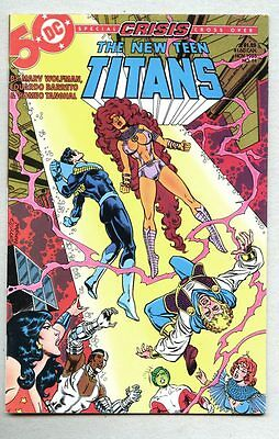 New Teen Titans #14-1985 vf George Perez Crisis On Infinite Earths