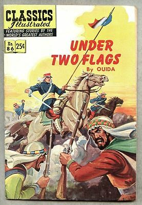Classics Illustrated #86-1969 vg/fn 7th edition Ouida / Under Two Flags
