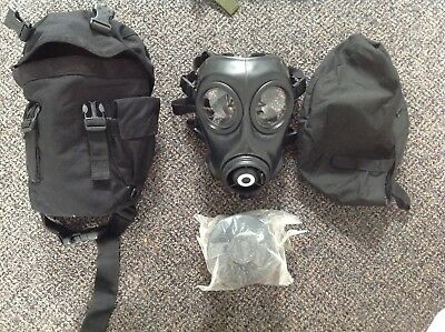 Avon British SAS FM12 Gas Mask Size 2/3, Prepper Kit, NOS with Bags.