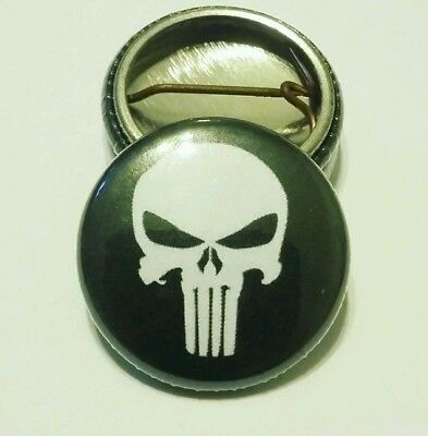 Punisher Button Pin 1 inch
