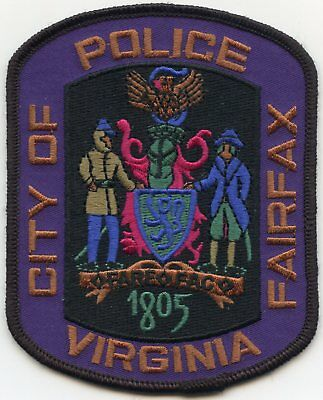 FAIRFAX CITY VIRGINIA VA TACTICAL subdued POLICE PATCH