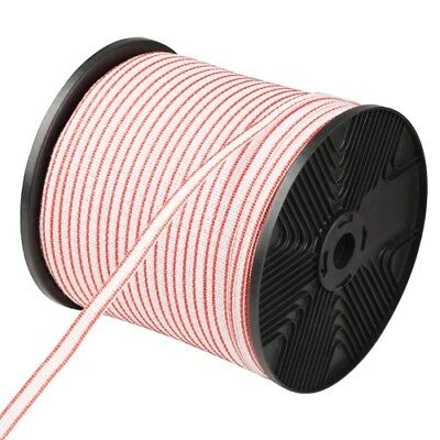 400m Polytape Roll Electric Fence Energiser Poly Tape Farm Livestock