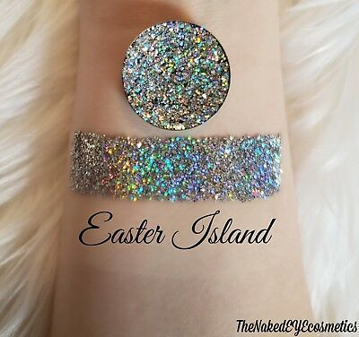 Pressed Glitter Eyeshadow Holographic [Easter Island] Cosmetic Glitter