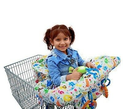Kiddy Keen  2-in-1 Baby Shopping Cart or  High Chair Cover ABC Animals Washable