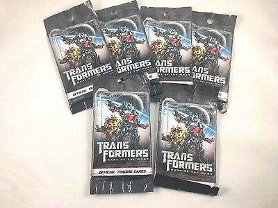 6 NEW packs Hasbro Transformers Dark of the Moon official trading cards