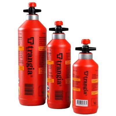 Trangia Fuel Bottle With Safety Valve 3 Sizes Suit Multiple Fuel Types