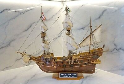 "Museum Quality Galeon S.XVI ""San Francisco"" Scale 1:90 Large Wooden Model Ship"