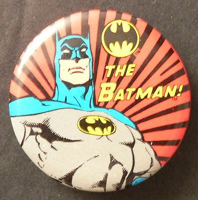 The Batman Movie 1982 Pin Button DC Comics Metal Back Original