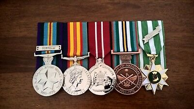 Australian Vietnam War, Nasho five medal group - Full size Replica