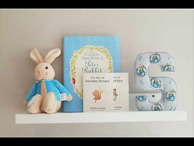 Peter Rabbit Nursery Initial. Unique Baby Shower Gift. Complete Nursery Set