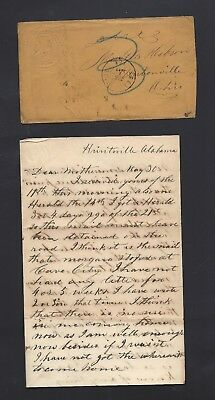 2nd Ohio Infantry CIVIL WAR LETTER from Alabama - Rebel Prisoners from Shiloh !