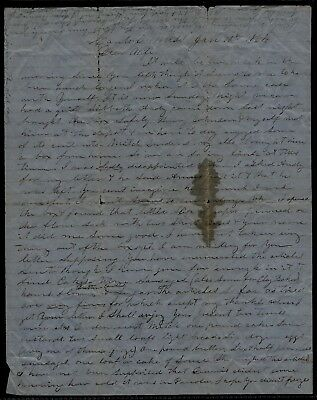 33rd Mississippi Infantry CONFEDERATE CIVIL WAR LETTER Surgeon in Canton, Miss !