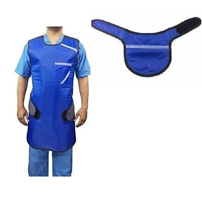 Set of X-Ray Protective Blue LEAD APRON with THYROID COLLAR